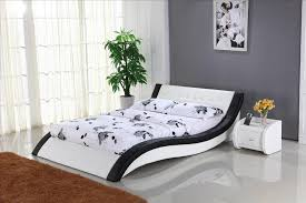bedroom furniture modern design. Leather Bed Contemporary Bedroom Furniture Modern Design T
