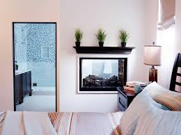 two way fireplace for your bathroom