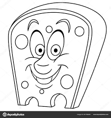 Coloring Page Book Swiss Cheese Holes Happy Food Coloring Pages