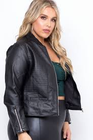 plus size faux leather top elegant plus size faux leather london moto jacket black curvy sense