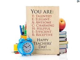 Happy Teachers Day Chart Full Form Of Teacher Happy Teachers Day Greetings Images