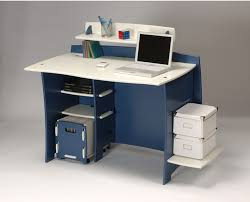 home office computer furniture. Home Office Computer Desk Is Beautiful Made With Different Designs Suitable For Children, In Blue And White Color Combination Good Spatial Furniture