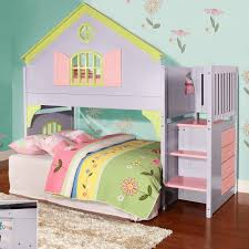 Kids Bedroom Girls Twin Over Full Bunk Bed Loft Beds Twin And Kid