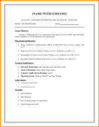 Simple Resume Template Free Bkperennials New 8 Easy Format Samp