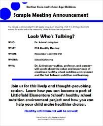 Meeting Announcement Template 10 Meeting Announcement Examples Pdf Examples