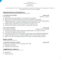 Auto Body Technician Resume Fascinating Auto Mechanic Resume Sample Automotive Technician Resume Samples