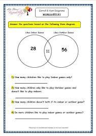 Venn Diagram Math Worksheets Grade 3 Maths Worksheets Pictorial Representation Of Data