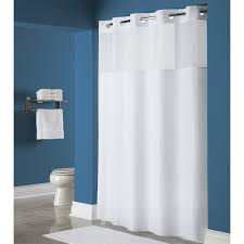 hookless hbh40mys0174 white mystery shower curtain with matching flat flex on rings weighted corner magnets