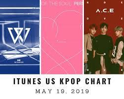 Itunes Us Itunes Kpop Chart May 19th 2019 2019 05 19