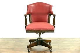 oak desk chair swivel parts office base antique