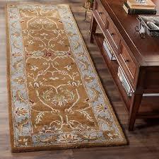 safavieh handmade heritage timeless traditional brown blue wool rug 2 3 x 6