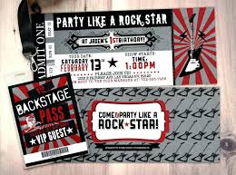 Boy Birthday Party Invitation Templates Free Rock Star Birthday Invitation Templates Also Hockey Ticket Birthday