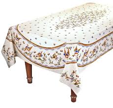 coated cotton tablecloths round rectangular blue and cream tablecloth home design