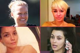 which celebs are natural stunners who looks like a totally diffe person without makeup