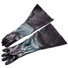 1 pair 60cm heavy duty sandblasting gloves for sandblaster sand blasting cabinet sandblasting machine protective glove