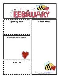 february newsletter template february monthly newsletter customizable classroom organization