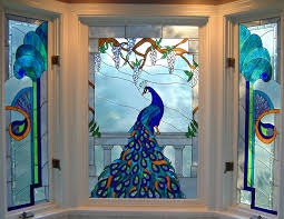 custom stained glass windows for peacock quilt stained glass pattern club patterns stained glass peacock
