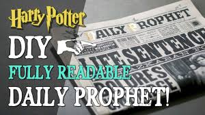 Harry Potter Newspaper Template Diy Daily Prophet Fully Readable Newspaper