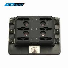 universal 1 power in 6 way blade fuse box holder m5 stud standard universal 1 power in 6 way blade fuse box holder m5 stud standard 6 3mm spade terminals for car boat marine 12v 24v maximum 32v jpg