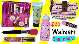 20 dollar wal mart challenge hard candy 15 piece makeup set exercise beauty kit cute purse review you