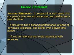 Components Of Income Statement Simple Income Statement Balance Sheet