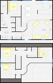 house plans with loft. 30 X 40 4 Bedroom 2 Bathroom Rectangle Barn House With Loft Used As One Plans Pinterest