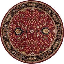 john red 6 ft round area rug