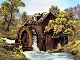 old mill painting by bob ross