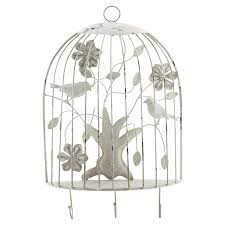 This whimsical bird cage wall decoration is sure to brighten any room. Rr Spr Birds Ec Metal Birdcage Wall Decor W Hooks Home Accents Meijer Grocery Pharmacy Home More
