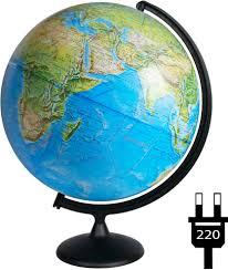 <b>Глобусный мир Глобус</b> с физической/политической картой мира ...