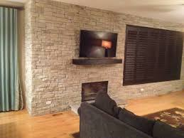 Dry Stack Stone Fireplace 15