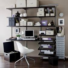 home office shelving ideas. Corner Black Wooden Standing Desk On The Shelves Connected With Of Including Small Office Shelf Images Furniture Luxury Home Ideas Wall Mount Computer Shelving