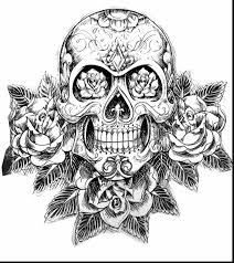 Small Picture Extraordinary day of dead sugar skulls coloring pages with sugar