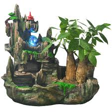 Small Picture Water fountain with Pump Small rockery Crystal ball Humidification