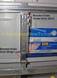 garage door reinforcement bracketChamberlain Belt Drive Garage Door Opener Review  Part 2