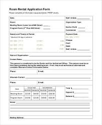 room for rent application free 7 basic rental application samples pdf
