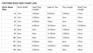 Knitting Sock Size Measurements Related Keywords