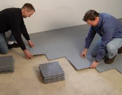 Concrete Basement Sub Floor Vapor Barrier Installed