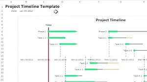 Template Excel Project Timeline Free Editable Budget Business ...