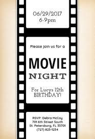 Movie Night Invitation Templates Movie Night Free Printable Birthday Invitation Template