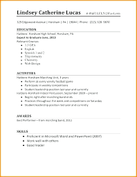 High School Resume Examples Impressive Examples Of High School Student Resumes With No Work Experience