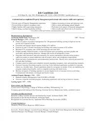Best Solutions Of Property Manager Resume About Businessnit Example