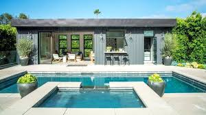 open pool house. Pool Houses How To Design A Show Stopping House Sunset Open Pictures . F
