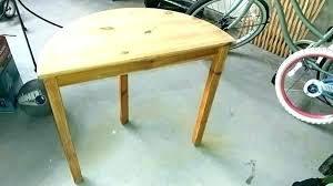 half circle foyer table round entry wood pine er