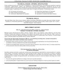 Technical Designer Resumes Technical Fashion Designer Resume Pdf Template Cute Fashion Resume