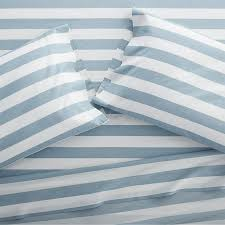 blue and white striped sheets.  White Inside Blue And White Striped Sheets M