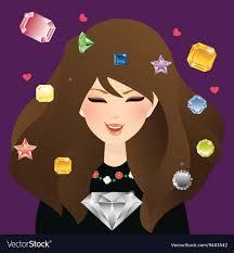Diamond Smile Design Woman Girl Female Smile With Diamond Crystal And
