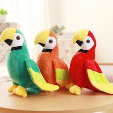 20 <b>25CM</b> Lovely Parrot Plush Toy Imitation Bird Plush Toy Home ...