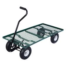 garden cart. Amazon.com : Wagon Garden Cart Nursery Steel Mesh Deck Trailer Heavy Duty Yard Gardening Useful Product \u0026 Outdoor