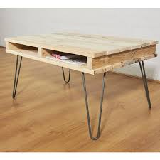reclaimed pallet wooden coffee table hairpin legs